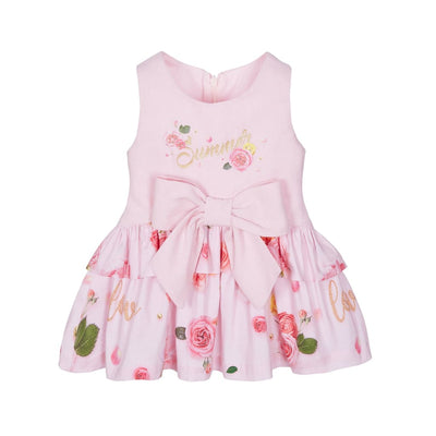 Lapin House Pink Love Summer Dress - Dresses