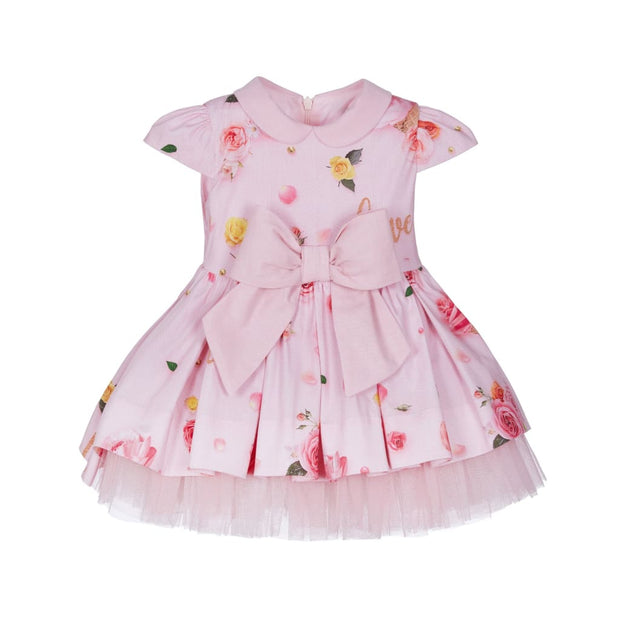 Lapin House Pink Tulle Ice Cream Cone Roses Dress - Dresses