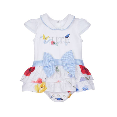 Lapin House White Butterfly Cute Baby Girls Romper Dress - Dresses