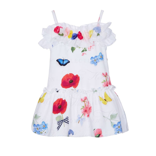 Lapin House White Floral Dress - Dresses