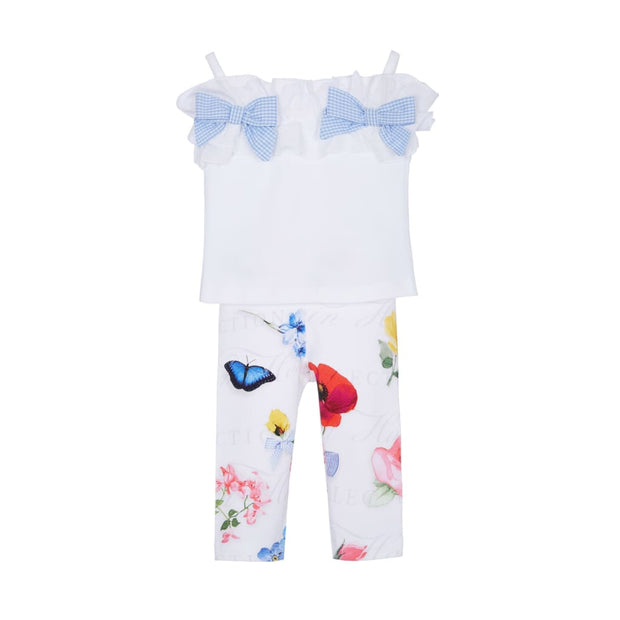 Lapin House White Floral Leggings Set - Outfits & Sets