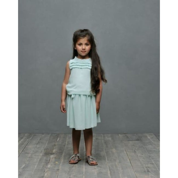 Le Chic Mint Frill Dress - Dresses