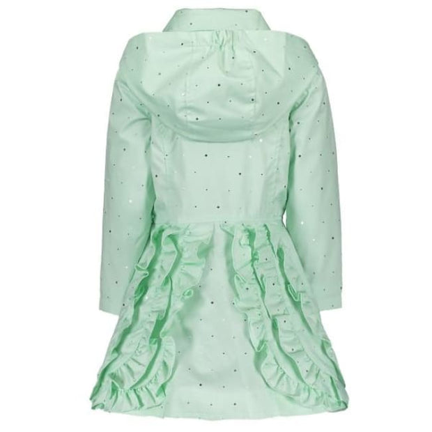 Le Chic Mint Ruffled Coat - Coats & Jackets