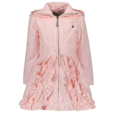 Le Chic Pink Ruffled Coat - Coats & Jackets