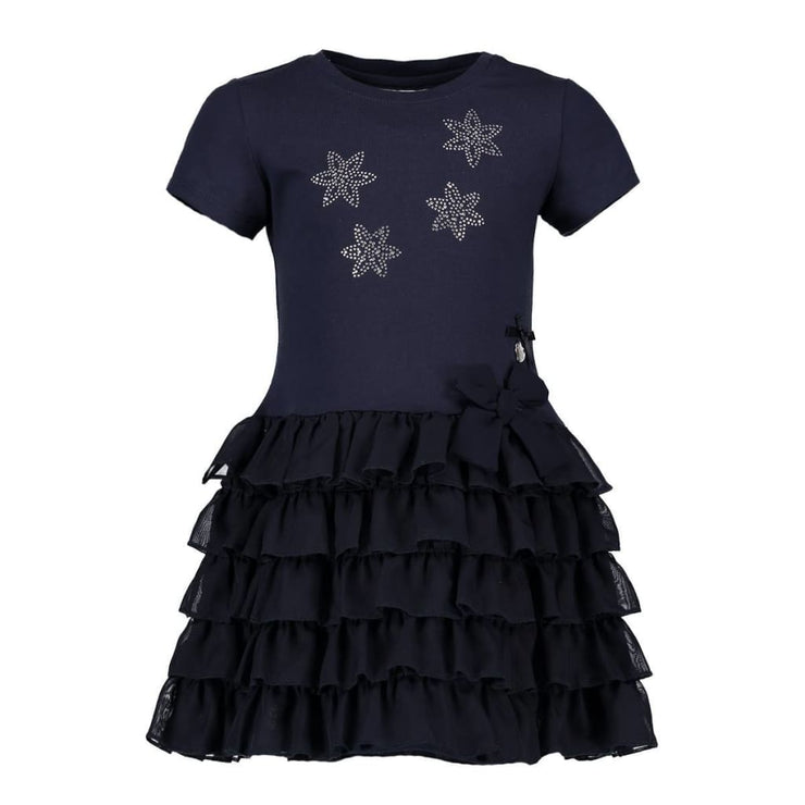 Le Chic Summer 18 Navy Blue Ruffle Dress C7115810 - Dress