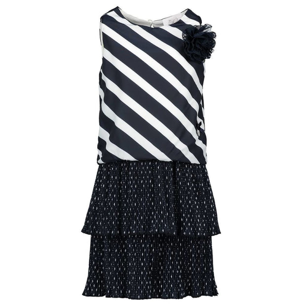 Le Chic Summer 18 Navy White Stripe Dress C7115802 - Dress