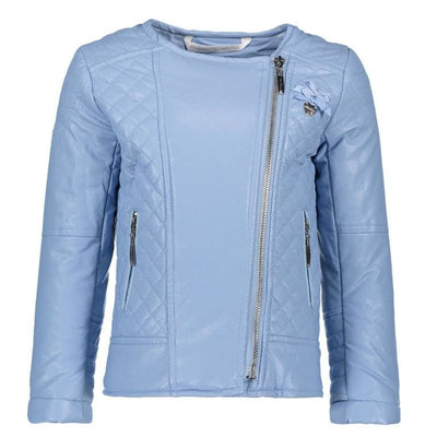 Le Chic Summer 18 Pastel Blue Mock Leather Jacket C8015215 - Jacket