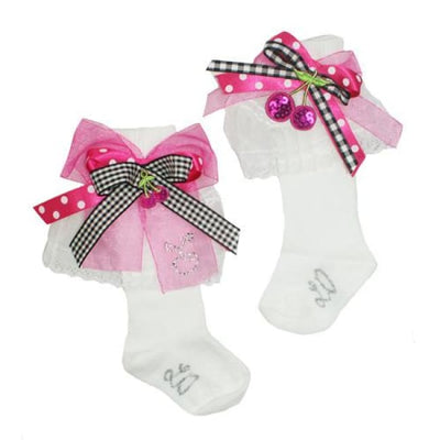 Little Darlings Cherry Cherry Holiday Knee High Socks 2548 - Socks