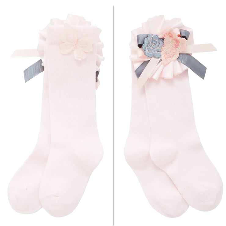 Little Darlings Feeling Peachy Knee High Socks 5030 - Socks & Tights