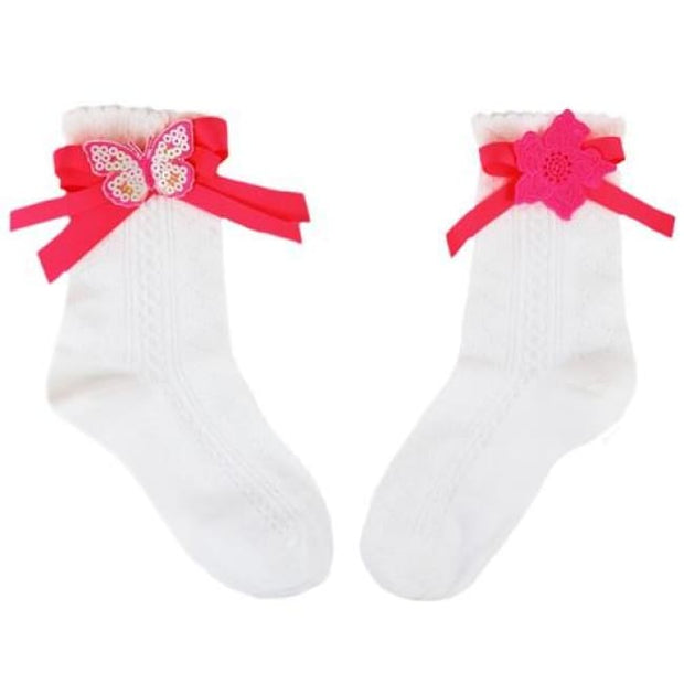 Little Darlings Neon Popiscle Ankle Socks 4063 - Socks