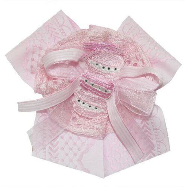 Little Darlings Pink Winter Sundae Hair Clip 3047 - Clip