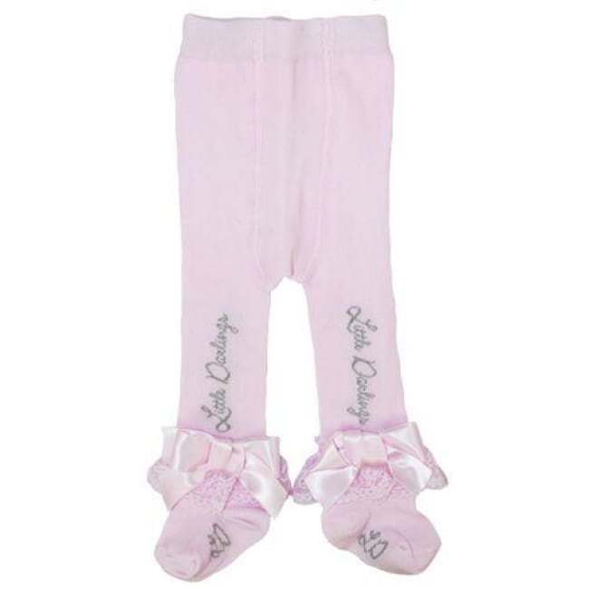 Little Darlings Pink Winter Sundae Tights 3043 - Socks & Tights
