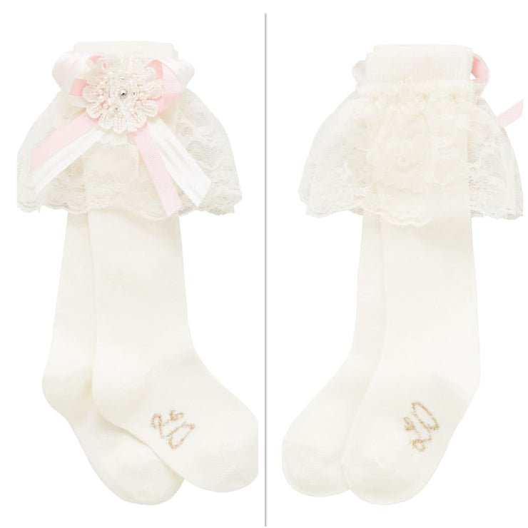 Little Darlings Pinky Rosey Glow Knee High Socks 5014 - Socks & Tights