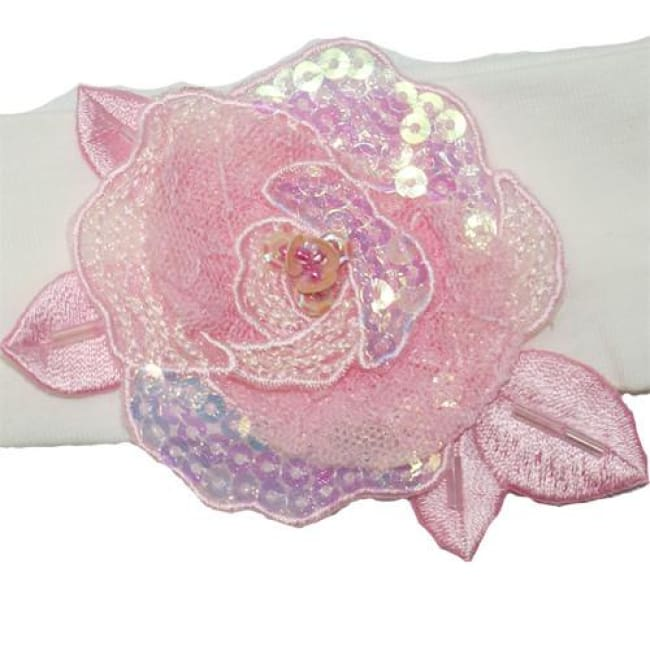 Little Darlings Pinky Rosie Posey Headband 1106