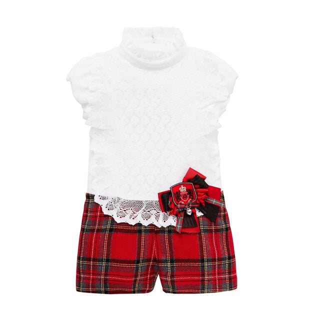 Little Darlings The Tartan Massive Playsuit 5055 - Playsuits