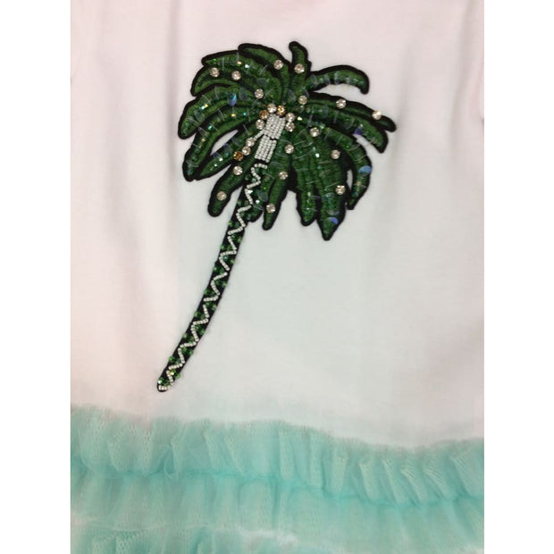 Little Lady Exotic Vibes Palm Tree Dress - Dress