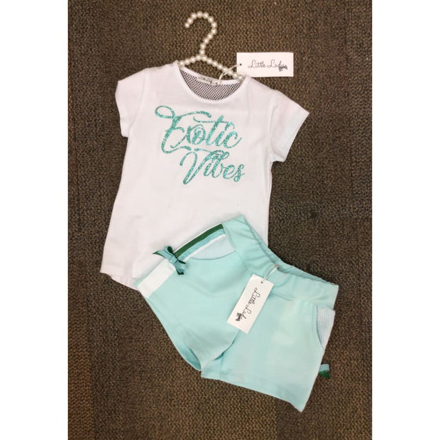 Little Lady Exotic Vibes Shorts Set - Outfits & Sets