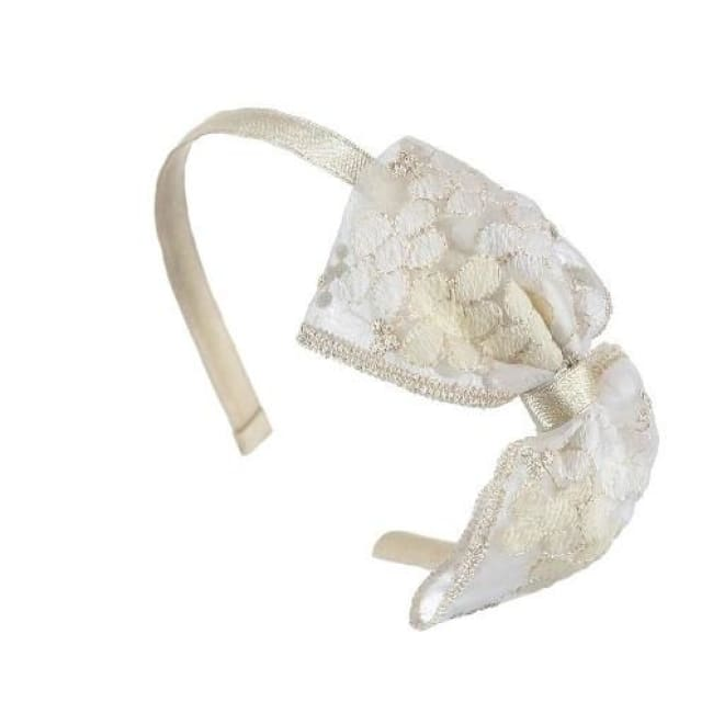 Mayoral Bow Headband Gold - Hair Accessories