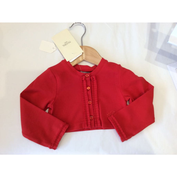 Mayoral Red Jersey Cardigan 153 - Cardigans