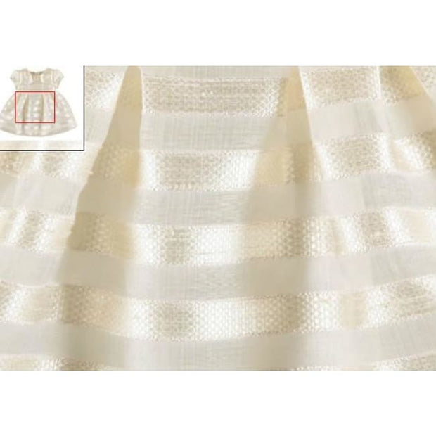 Mayoral Stripes Jacquard Special Occasion Dress 1910 Ivory - 12 Months - Baby Dress