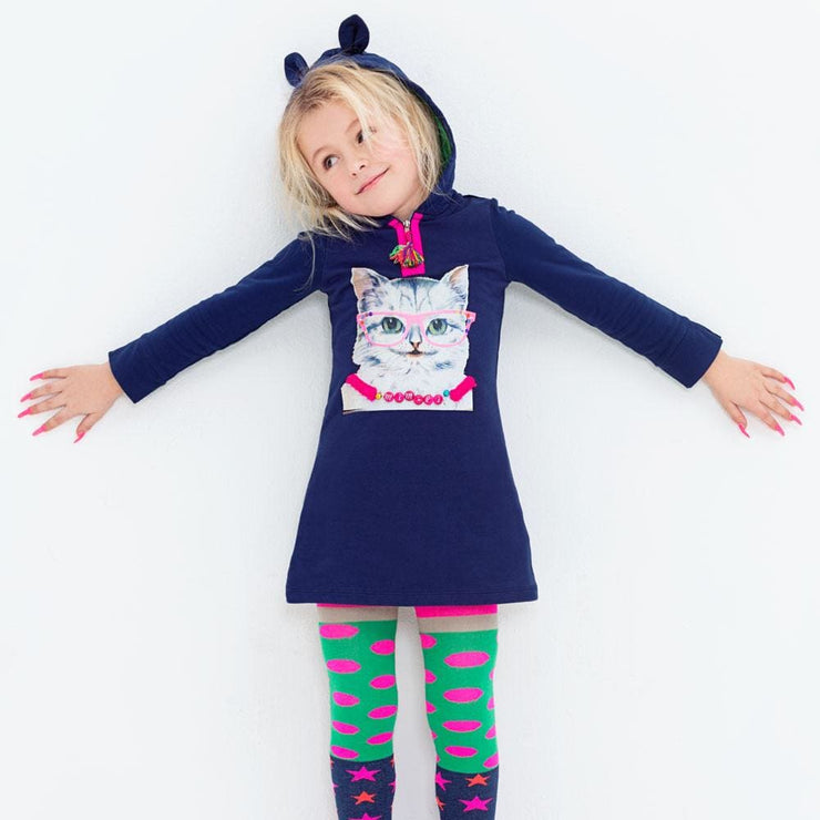 Mim-Pi Navy Pussycat Dress 1344 - Dresses