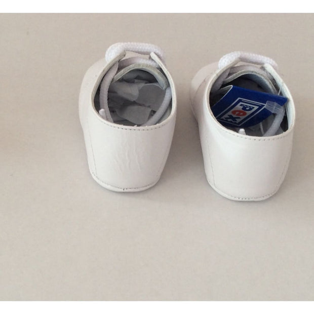 Pex Alec Baby Boys Leather Pram Shoes - Blue - Boys Shoes