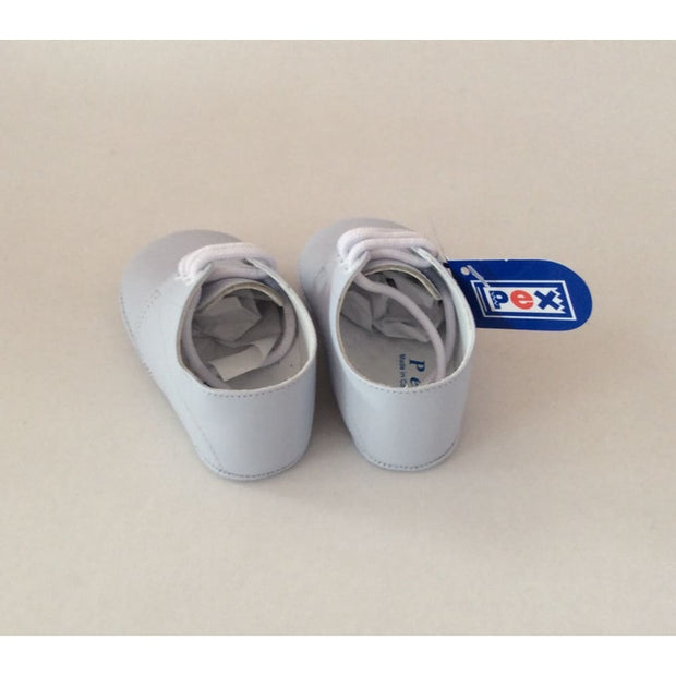 Pex Alec Baby Boys Leather Pram Shoes - White - Boys Shoes