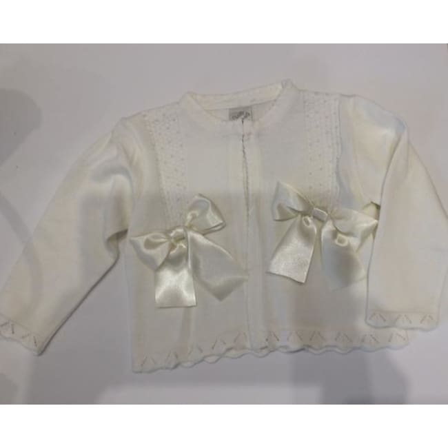 Pretty Originals Aw18 Jp02761 Cream Bow Cardigan - Cardigan