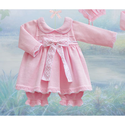Pretty Originals Aw18 Jpg1232 Pink Knitted Dress & Bloomers - Dress