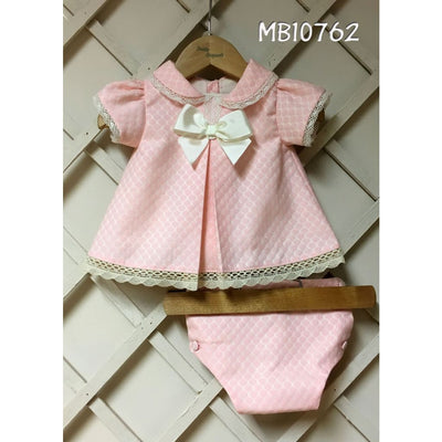 Pretty Originals Aw18 Mb10762 Pink Dress & Knickers Outfit - Dress