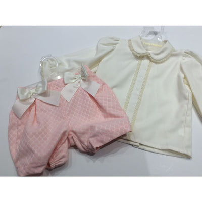 Pretty Originals Aw18 Mb10763 Pink & Cream Shorts Outfit - Shorts Outfit