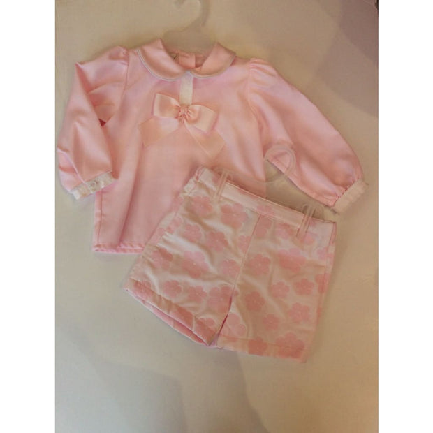 Pretty Originals Aw18 Mb10778 Pink & White Shorts Outfit - Shorts Outfit