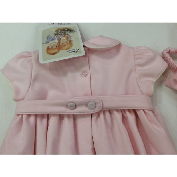 Pretty Originals Aw18 Mc01153 Pink Hand Smocked Ruffle Dress - Dress