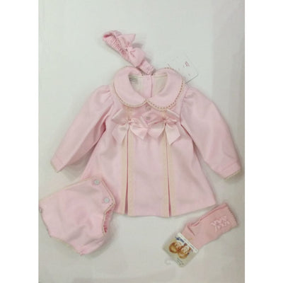 Pretty Originals Aw18 Mt00826 Pink & Cream Dress & Knickers Outfit - Dress