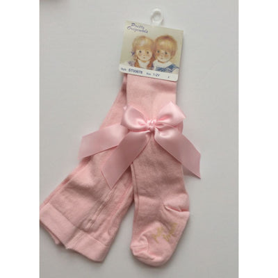 Pretty Originals Aw18 St00678 Pink Bow Tights - Tights