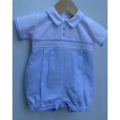 Pretty Originals Blue & White Romper Dl61621E - Romper