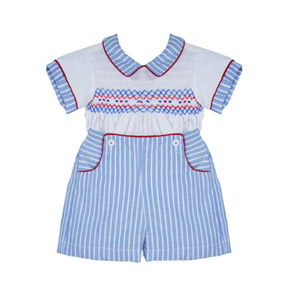 Pretty Originals Boys Smocked Shorts Outfit Mt00803 - Boys Shorts Outfits