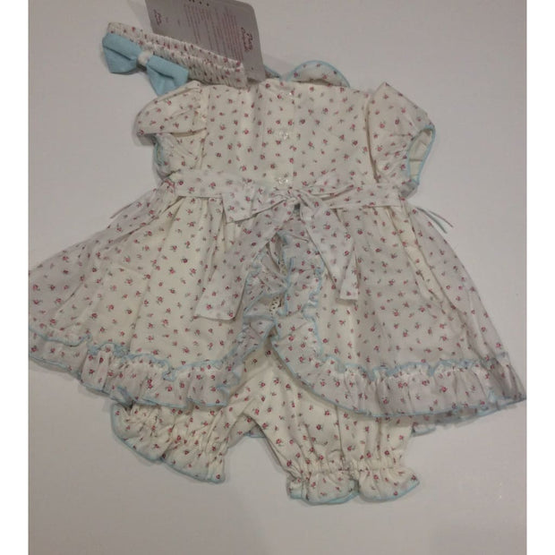 Pretty Originals Cream Multi Smocked Dress & Bloomers Outfit Mt00808 - Baby Dress