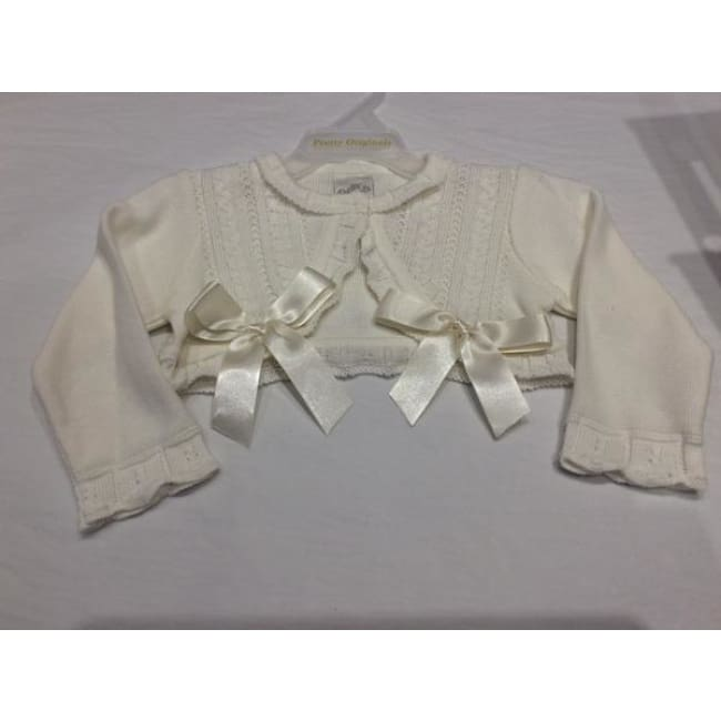 Pretty Originals Jp10440 Cream Bow Cardigan - Cardigan