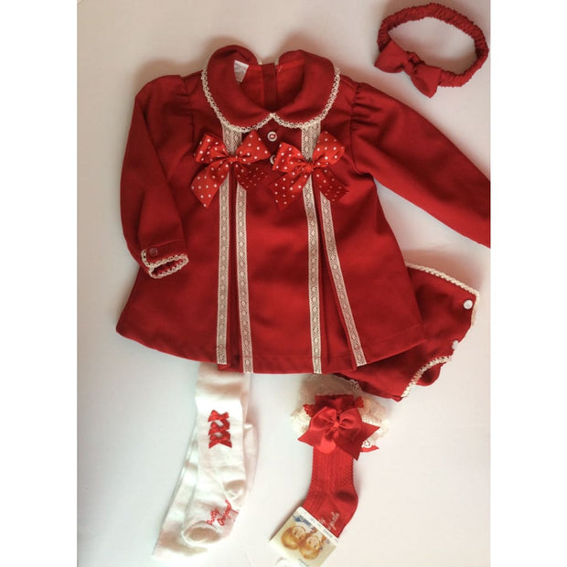 Pretty Originals Mt00826 Red Dress Pants & Headband - Dress