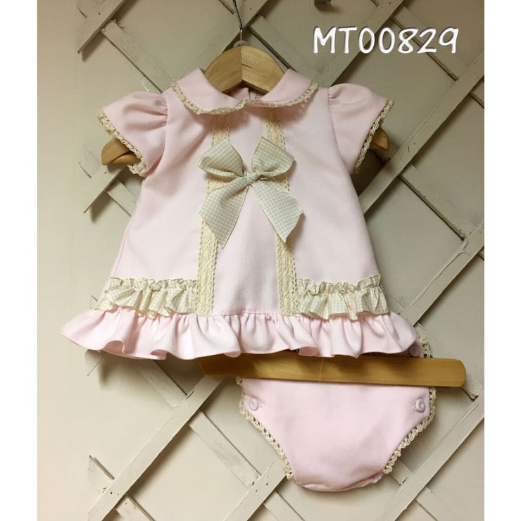 Pretty Originals Mt00829 Pink Dress & Knickers Outfit - Dress