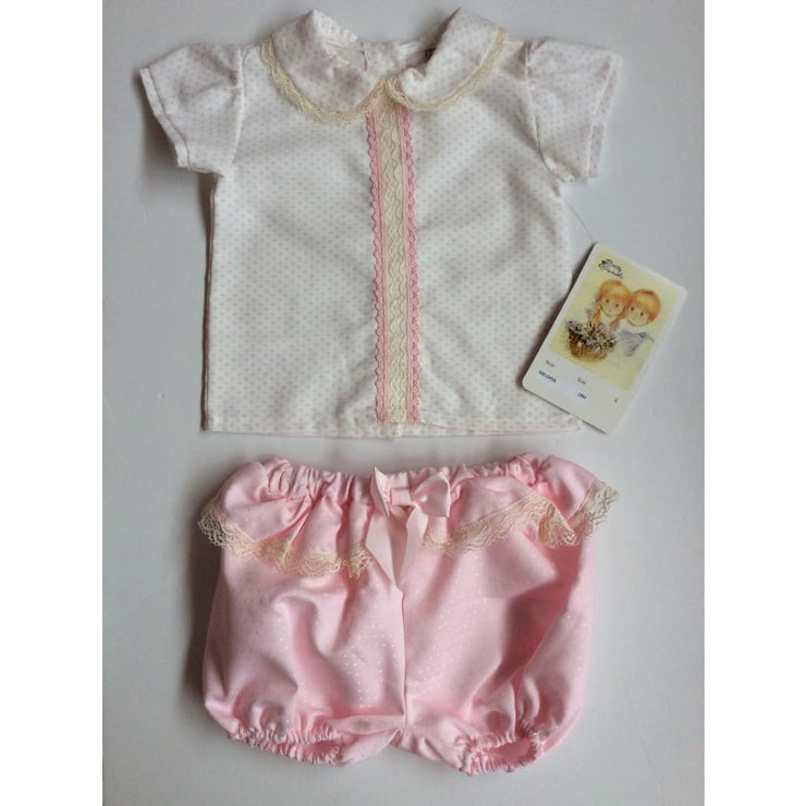 Pretty Originals Pink Cream Shorts Set - Outfits & Sets