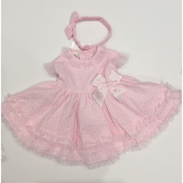 Pretty Originals Pink Dress & Bloomer Set Mt00793 - Baby Dress
