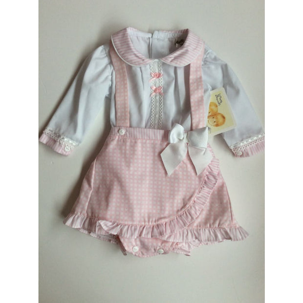 Pretty Originals Pink Pinafore Dress - Outfits & Sets