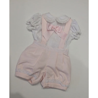 Pretty Originals Pink Pinafore Shorts Outfit Mb10752 - Dress
