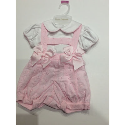 Pretty Originals Pink Pinafore Shorts Outfit Mt00794 - Shorts Outfit