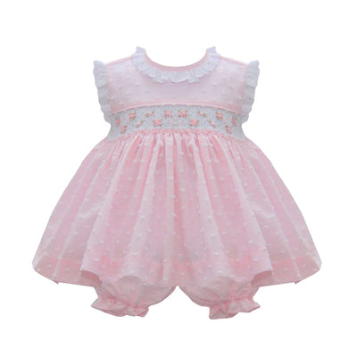Pretty Originals Pink Smocked Dress & Bloomers Mt00905 - Dresses