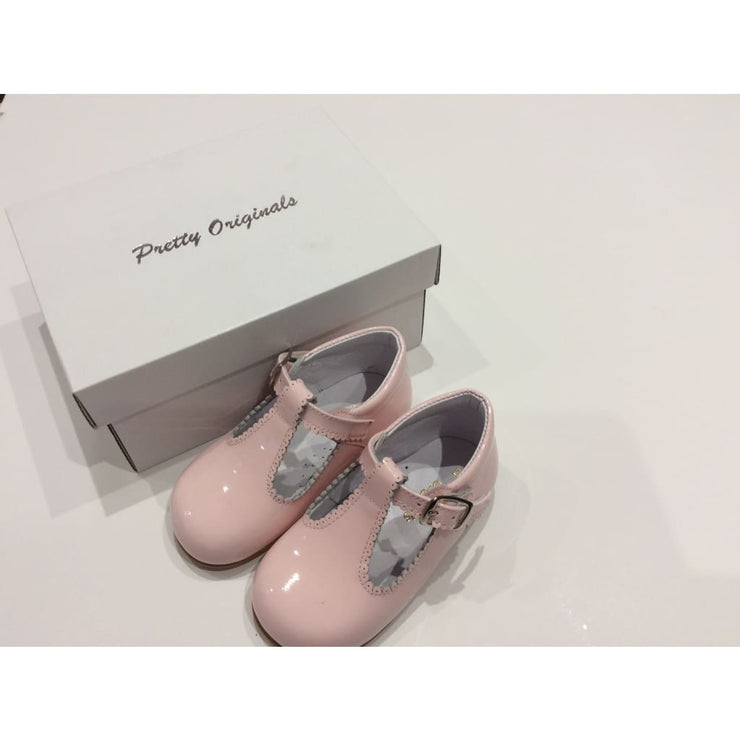 Pretty Originals T Bar Patent Pink Shoes Up465D - Shoes