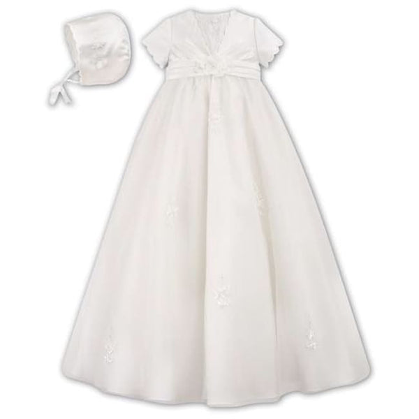 Sarah Louise 001051 Silk Christening Gown