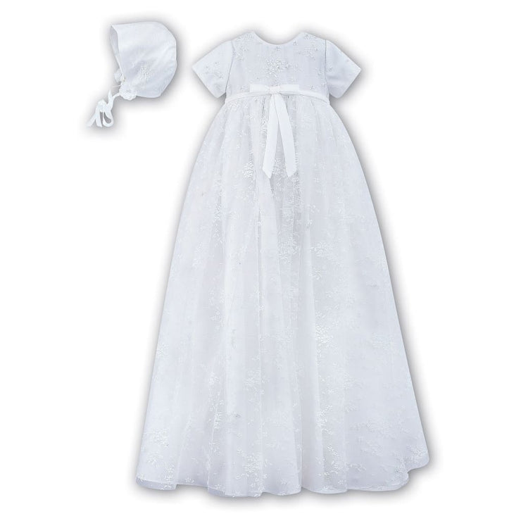 Sarah Louise 001092 Christening Gown With Bonnet - Christening Gown